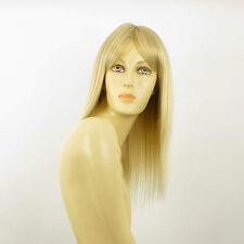 Perruque femme mi-longue blond doré méché blond très clair  LAURY 24BT613