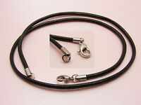 ~Custom Made~ 1 x 316L STAINLESS STEEL Genuine 3mm LEATHER Choker Cord NECKLACE