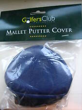 Mallet Golf Putter Head Cover Navy Quality Vinyl With Sock BNIP Wholesale New