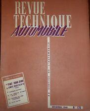 Revue technique FIAT 1800 2100 RTA 176 1960 COMPTE RENDU SALON 1960 UTILITAIRES