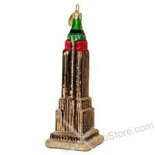 Empire State Building NYC Glass Christmas Ornament - New York City Souvenir Gift