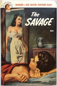 The Savage by Artzybasheff, Lion Book 64 (1951) Vintage Paperback Russian Noir!