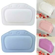Waterproof Spa Bath Pillow Non-Slip Comfort Spongy Relax Bathtub Cushion Suction