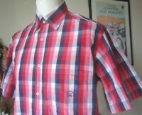 PAUL & SHARK YACHTING S/S SHIRT  40 chest reg fit  M-L  *MINT* check casuals top