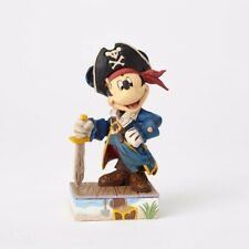 Jim Shore Disney Traditions MICKEY MOUSE PIRATE Figurine Set Sail For Adventu...