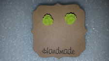 Small Rose Flower Stud Earrings - Handmade