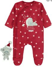 Christmas Baby Outfit With Teddy Boy Girl Red First Size 2 Piece Set Xmas 9lb
