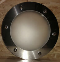 FLAT PORTHOLE FOR DOORS STAINLESS STEEL 230 mm