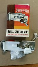 Swing-A-Way 609WH Magnetic Wall Can Opener, White