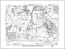 Tattingstone, Bentley, old map Suffolk 1904: 82SW repro