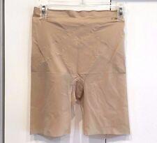 NEW! Donna Karan 64211 'Evolution' Hi-Waisted Thigh Slimming Shorts, L - Nude