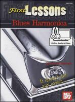 First Lessons Blues Harmonica Sheet Music Book with Audio Learn To Play Method