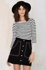 Re:named By Nasty Gal That's Entertainment Striped Ribbed Top Size Small