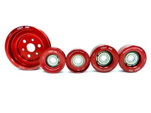 OBX Red Power Pulley Kit For 12 To 18 Toyota 86 FT86 GT86 13 To 16 Scion FR-S