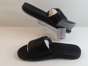 New Balance Men's Recharge Slide Sandals Black/Grey US 10 EU 44