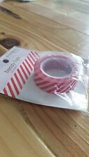 "Queen & Co Washi Trendy Tape! ""Diagonal Stripe Red"" 10 yards each roll!"