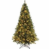 Colorado Green Spruce Pre-Lit Christmas Tree Warm White LED Lights 6FT
