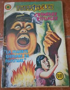 1979 FUERA DE LEY comic CRIME WITCH witchcraft CATFIGHT woman fight MURDER RARE