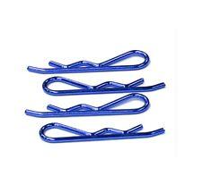 Clips bleus pour voitures 1/5 & 1/4 ( 45 x 11 mm )