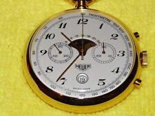 Data cronografo Heuer Moonphase orologio da taschino NUOVO VECCHIO STOCK mozzafiato!!!