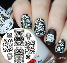 BORN PRETTY Nail Art Stamping Template Image Plates BP05 Egypt Style Owl Design