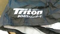Custom Black Triton BassBoat Model TR-186/SC, TR-18X/SC & 185SC Cover By Attwood