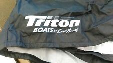 Custom Black Triton BassBoat Model TR-186/SC, TR-18X/SC & 185SC Cover By Attwood