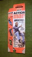 VINTAGE ACTION MAN 40th EMPTY BOX FOR ADVENTURER GRIPPING HANDS NO DOLL FLAT PAC