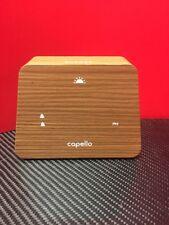 Capello CA-41 Modern Mantle Clock Dual Alarm Woodgrain Finish LED Display VGC