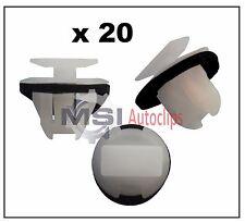 20 x EXTERIOR PLASTIC FENDER WHEEL ARCH MOULDING TRIM CLIPS fits NISSAN INFINITI