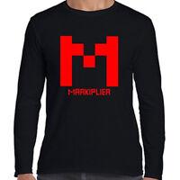Markiplier Famous Vlogger Red Logo Men's Long Sleeve Black T-Shirt Size S to 3XL