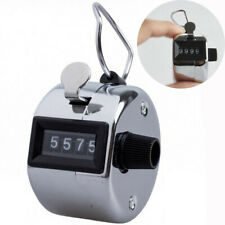 Tally 4 Digit Palm Counters Counter Hand Clicker Manual Handy Mechanical Chrom A
