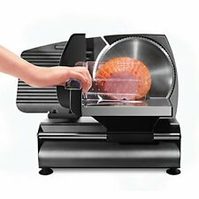 Chefman Die-Cast Electric Deli/Food Slicer, Precisely Cuts Meat, Cheese, Bread,