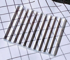 "10 Pcs 1/2� x 1/2"" x 4� Long Square Clear Acrylic Plexiglass Lucite Rod .50 Inch"