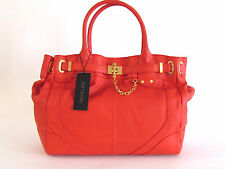 NWT RACHEL ZOE CORAL DEUX LARGE LEATHER BAG TOTE WITH CROSSBODY STRAP $545.00