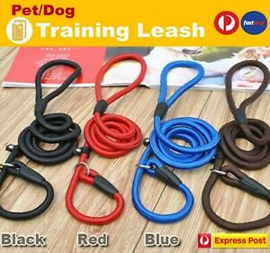 Cesar Millan Dog Puppy Training Walk Correction Leash Slip Lead Pets Nylon Rope
