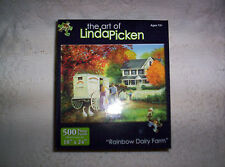 NEW 500 piece jigsaw puzzle The Art of Linda Picken Rainbow Dairy Farm Karmin In