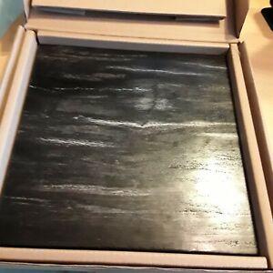 "Restoration Hardware Petrified wood cheese charcuterie board 12"" x 12"" x 3/4"""