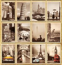 Lots 32pcs Famous Art Building Paintings Posters Landscape Postcard Bulk Set