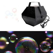 Automatic Deluxe 25W Mini Bubble Machine Blower Maker Kids DJ DISCO Party