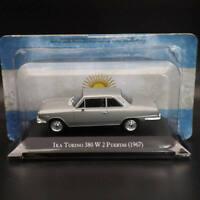 1:43 IXO IKA Torino 380 W 2 Puertas 1967 Silver Diecast Models Limited Edition