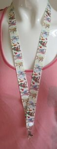 lanyard breakaway Peter Rabbit ID holder, 2 sizes, ID badges ribbon kids