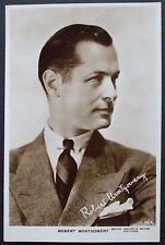 Old  Real Photo Film Star Postcard - Robert Montgomery