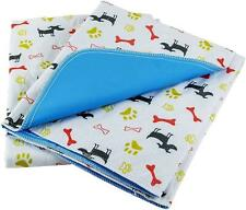 Washable Pee Pads For Dogs 2 Pack LARGE Reusable Puppy & Pet Training Floor Mats