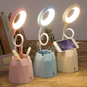 Touch Sensor Dimmable USB Powered LED Desk Table Bedside Reading Lamps Lights A