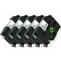 5-Pk/Pack TZe231 TZ231 Black/White Label Tape For Brother P-Touch PT-D210 12mm