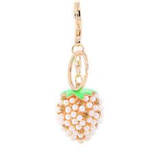 Handbag Buckle Charms Accessories White Pearl Pineapple Keyring Key Chains HK109