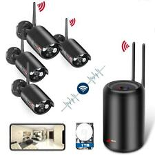 Wireless Security Camera System HD 1080p WiFi NVR 4 IP Cameras with Hard Disc 1T