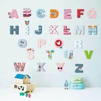 A-Z 26 Disney Mickey Alphabets Wall Stickers Kids Nursery Decor PVC Decal Art