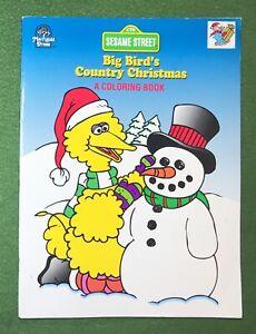Sesame Street Big Bird's Country Christmas 1986 Coloring Book PBS CTW fair shape